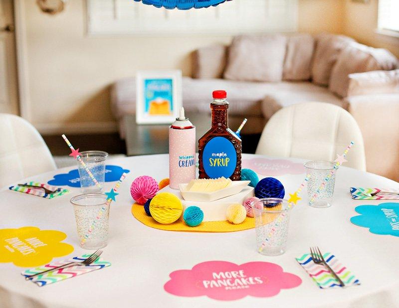 Pancakes and Pajamas Party Table