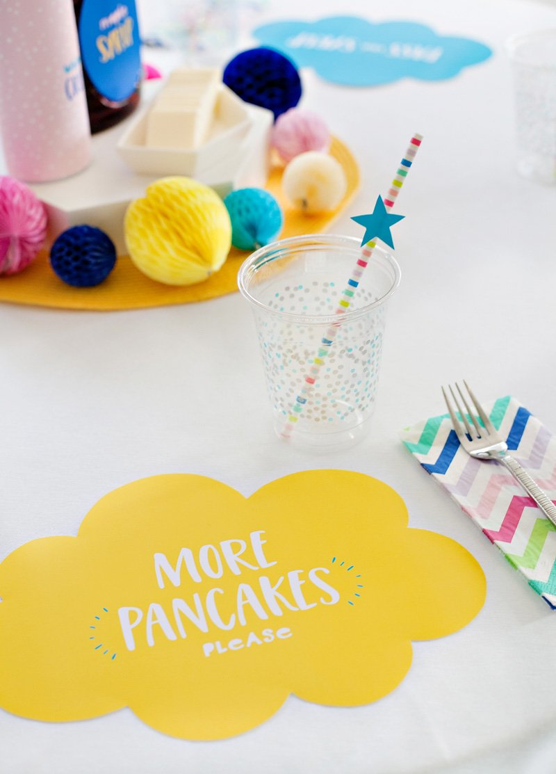 Printable Pancake Party Placemats