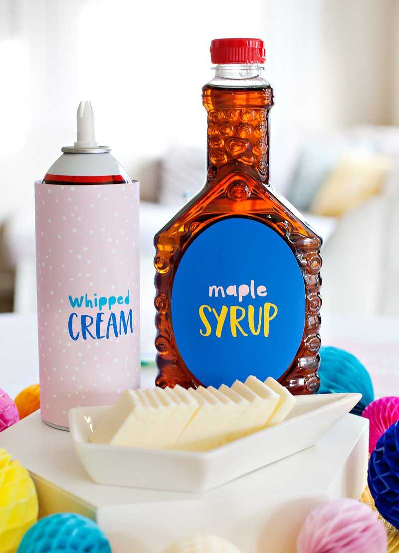 Cute Whipped Cream and Syrup Labels