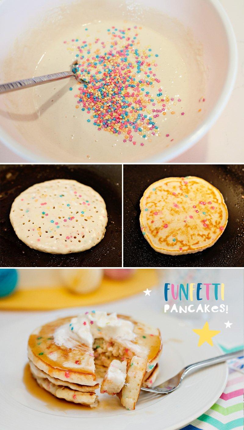 Funfetti Pancakes Tutorial