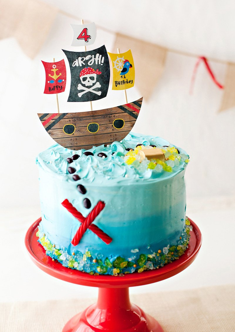 Pirate Party Homemade Cake