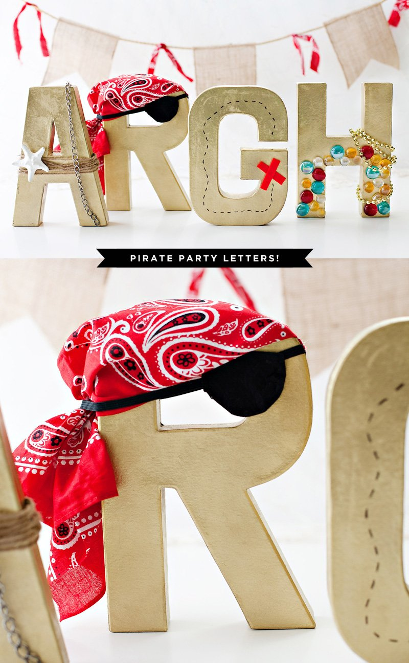 Pirate Party Decorations - Paper Mache Letters