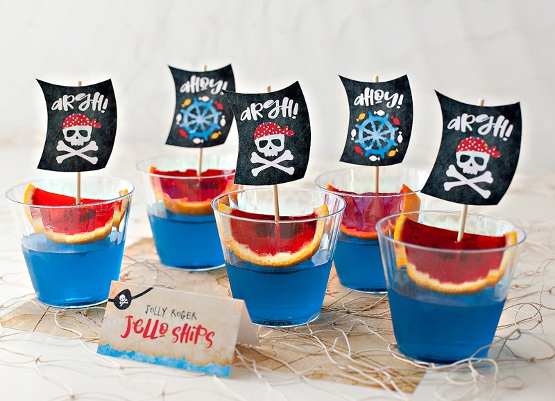 Jolly Roger Jello Ships - Pirate Party Food