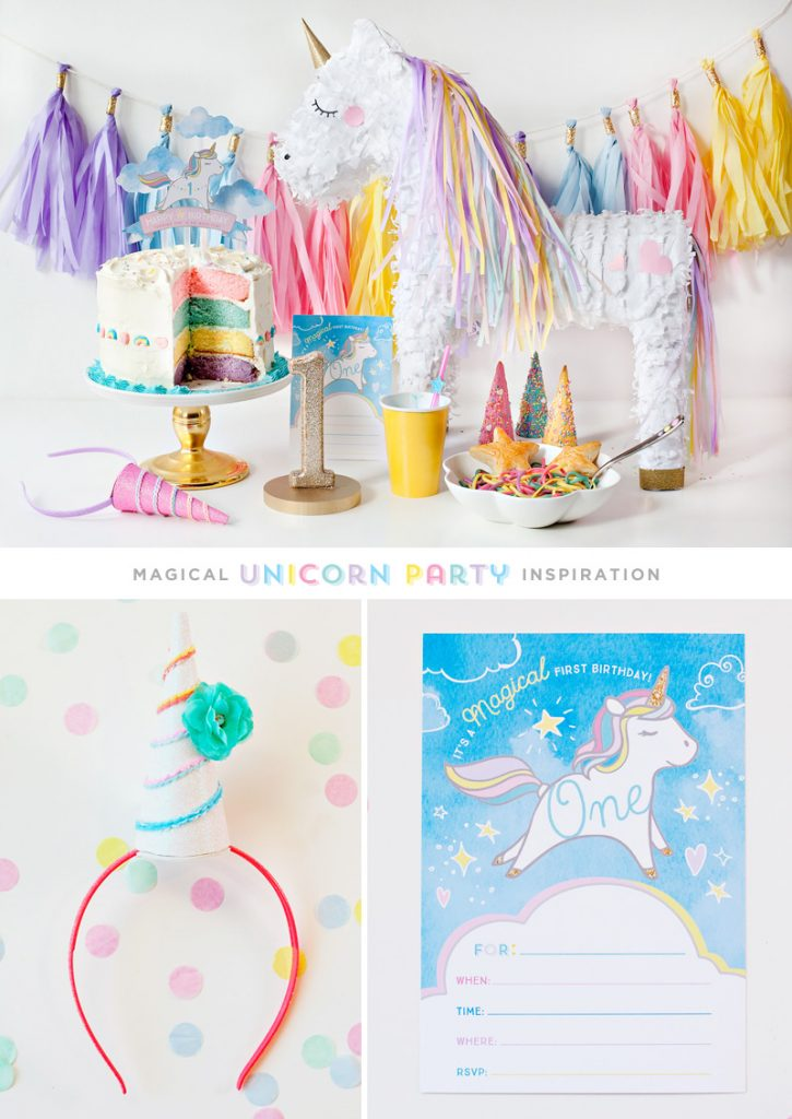 DIY Unicorn Birthday Party Ideas