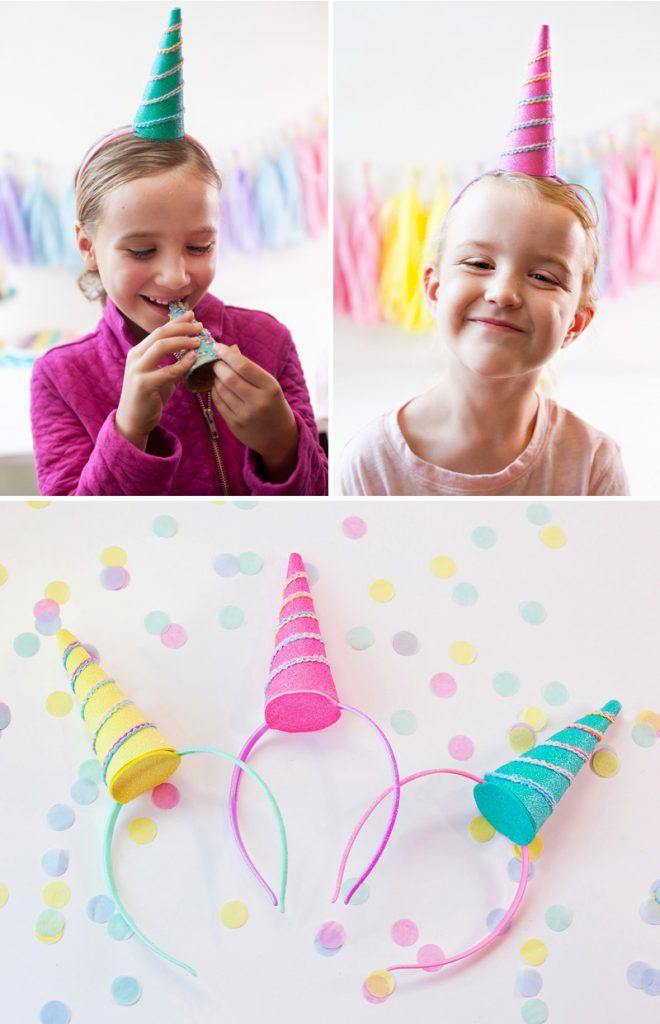 DIY Unicorn Party Headbands