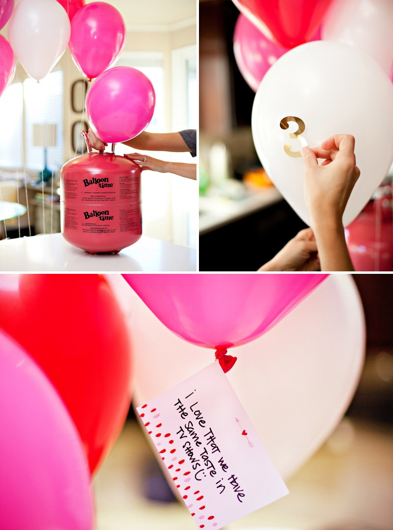 DIY Valentine's Day Balloon Surprise