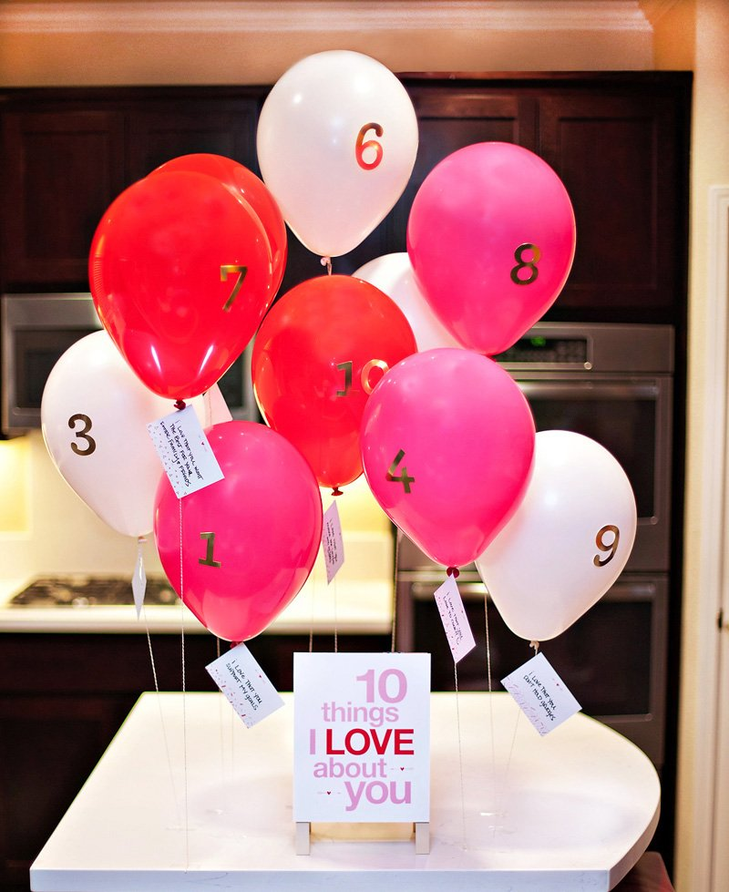 10 Things I Love About You Balloons