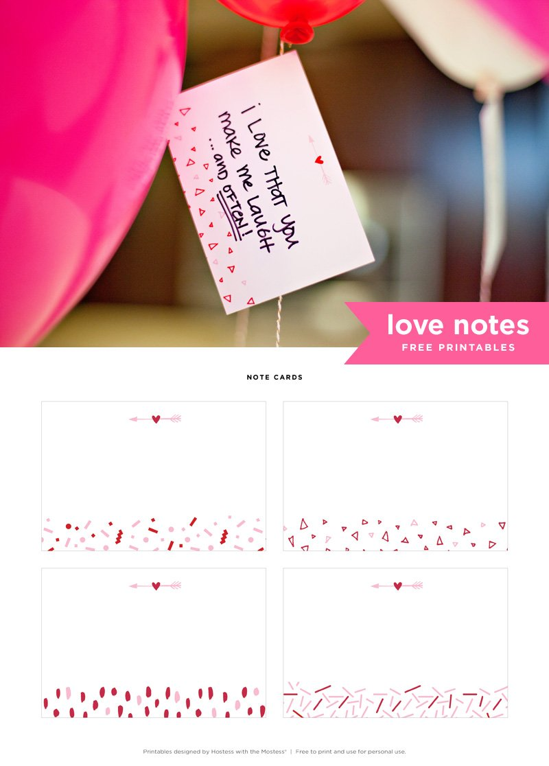 Free Printable Valentine Love Notes