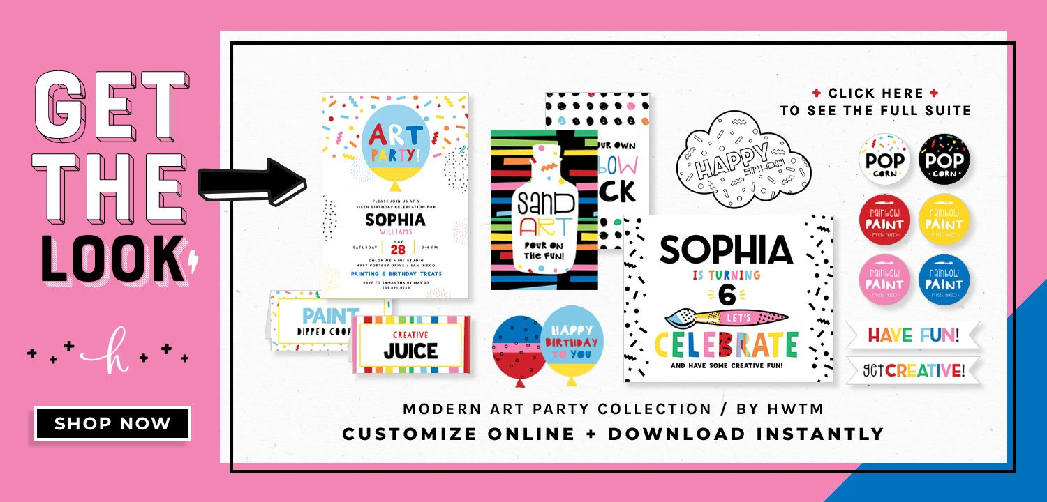 Modern Art Party Printables