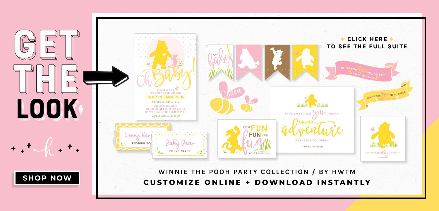 Winnie the Pooh Baby Shower Printables