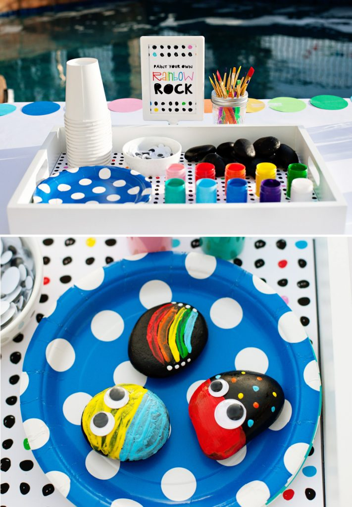 rainbow party rock painting activity