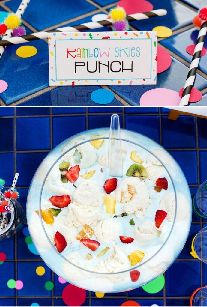 rainbow ice cream punch