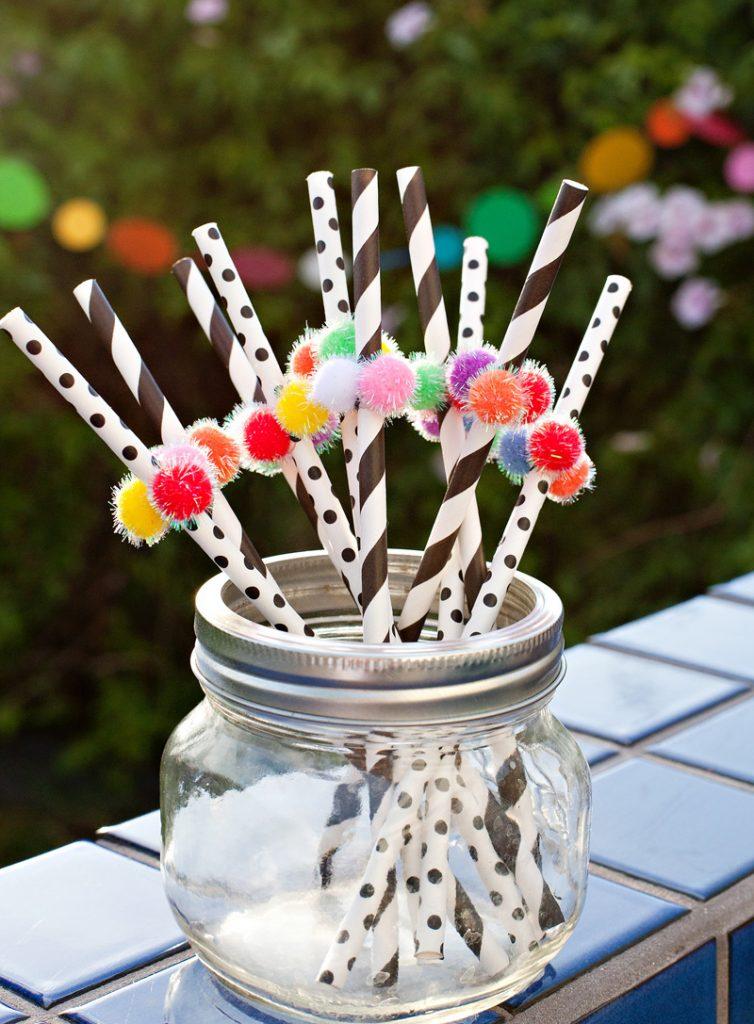 rainbow party straws