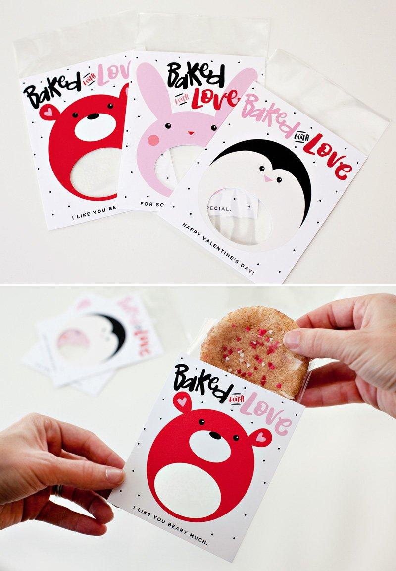 printable cookie sleeve gifts