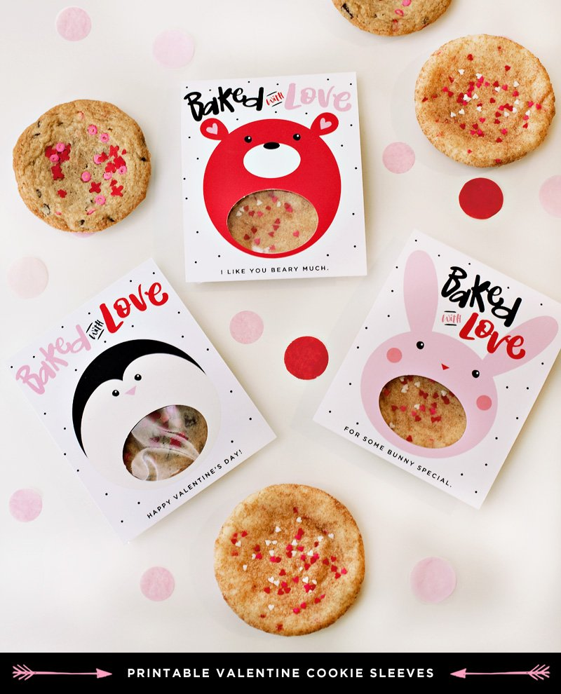 free printable valentine's day cookie gifts