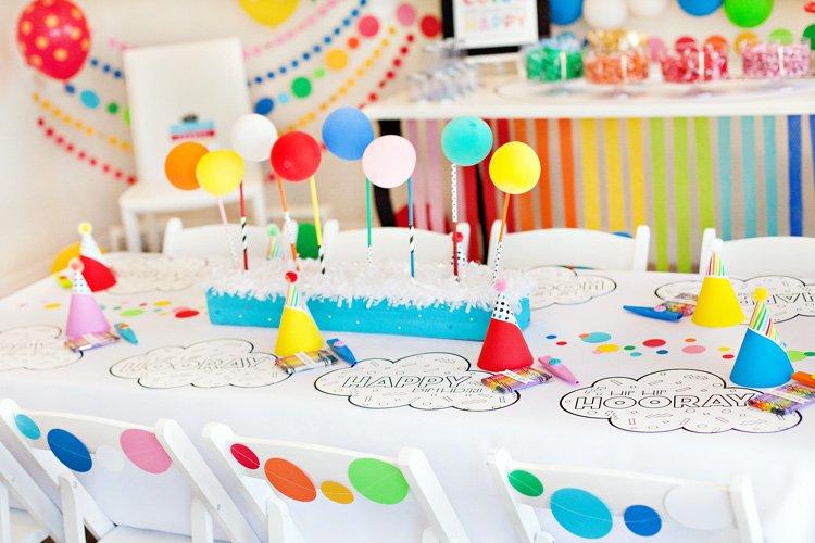 A Modern Rainbow Art Party (Kids Birthday)