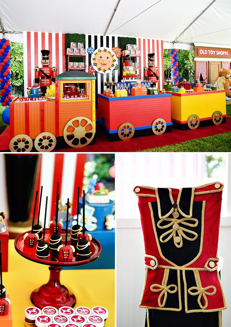 Toy Party Train Dessert Table + Toy Soldier Cake Pops