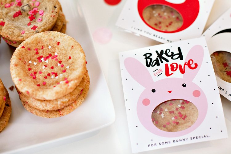 valentine cookie gift printables