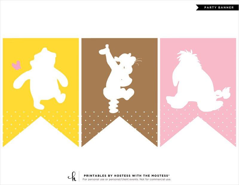 Winnie the Pooh Baby Shower Banner - 1