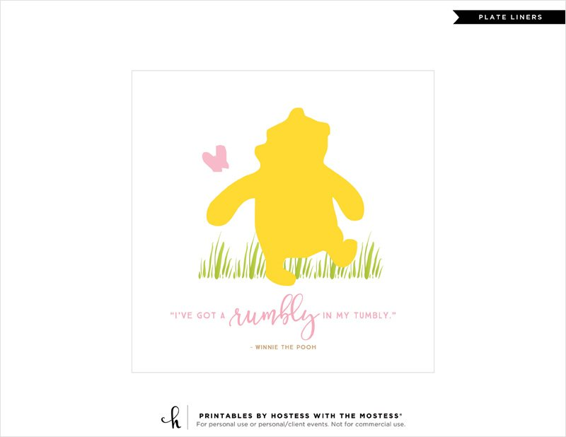 Winnie The Pooh Baby Shower Printables Amp Quotes Pink