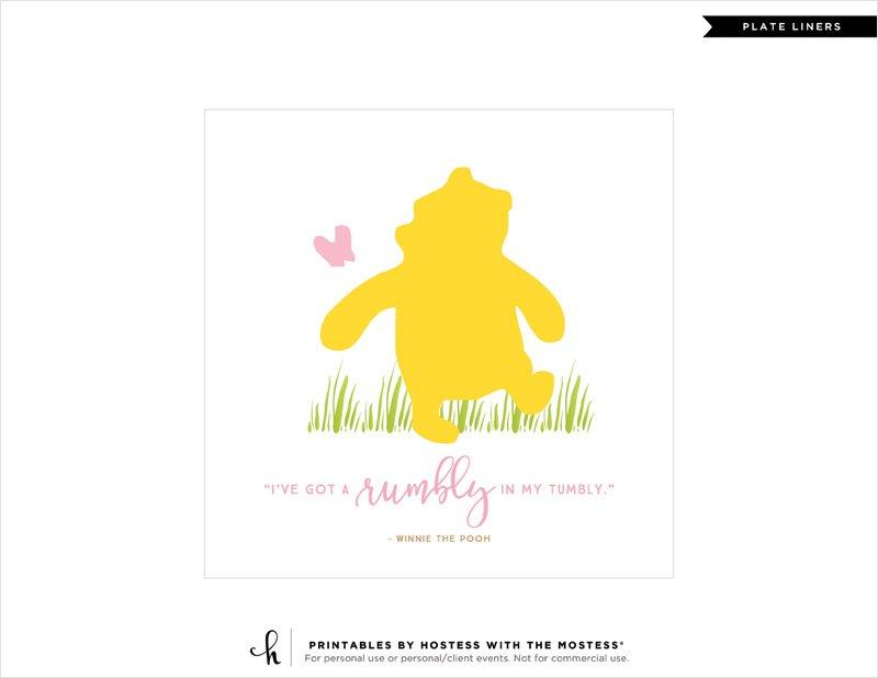 Winnie the Pooh DIY Plate Liner - 2