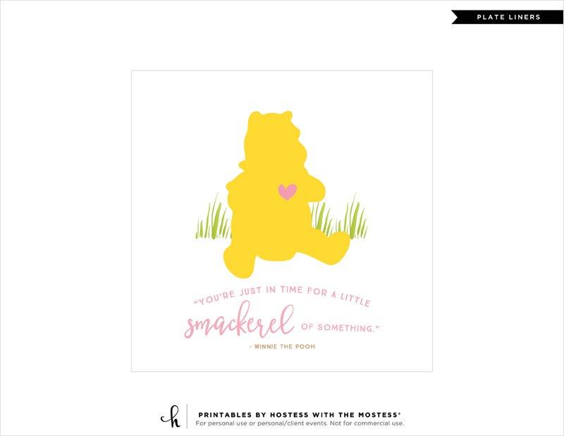 Winnie the Pooh DIY Plate Liner - 1