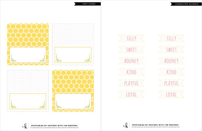 Winnie the Pooh - Printable Tent Cards