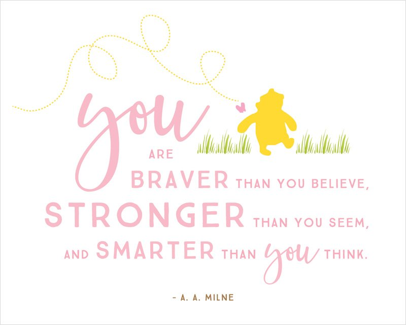 Winnie The Pooh Quotes: Winnie The Pooh Baby Shower Printables & Quotes