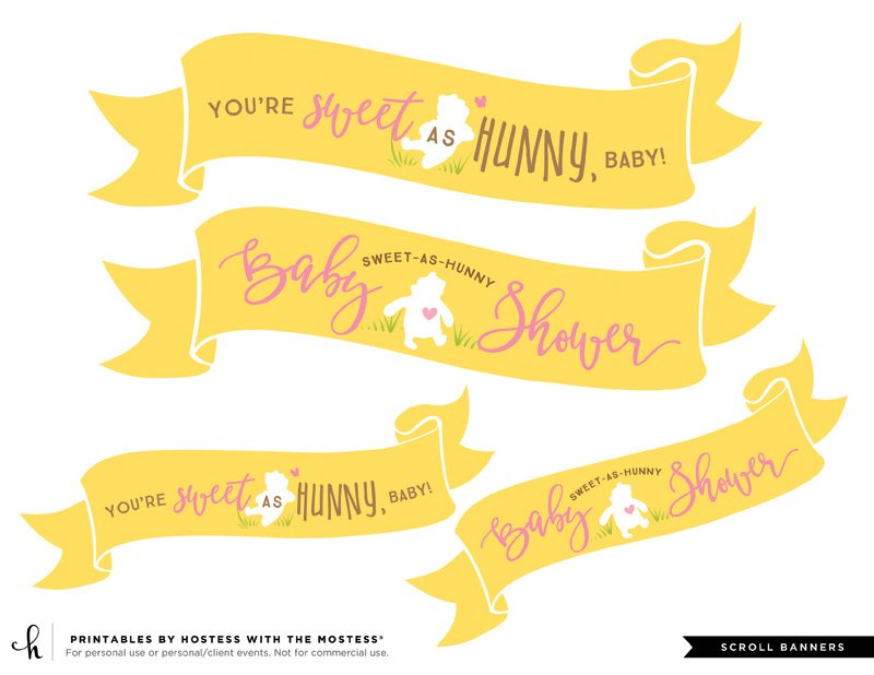 winnie the pooh printable banners