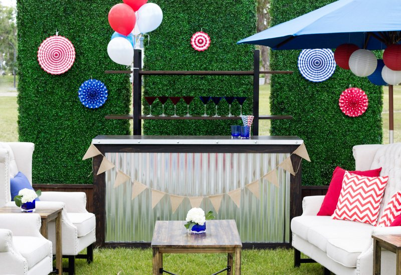 corrugated metal bar rental