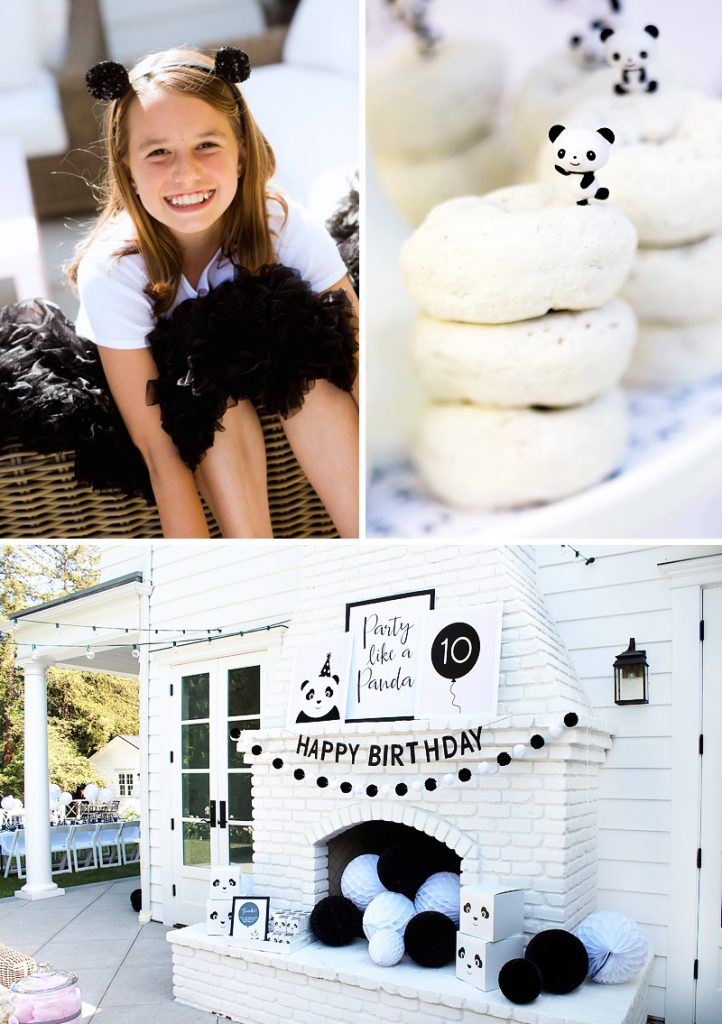 modern panda birthday party ideas