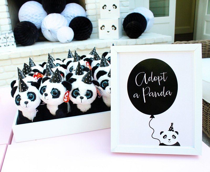 panda party favors - plush pandas