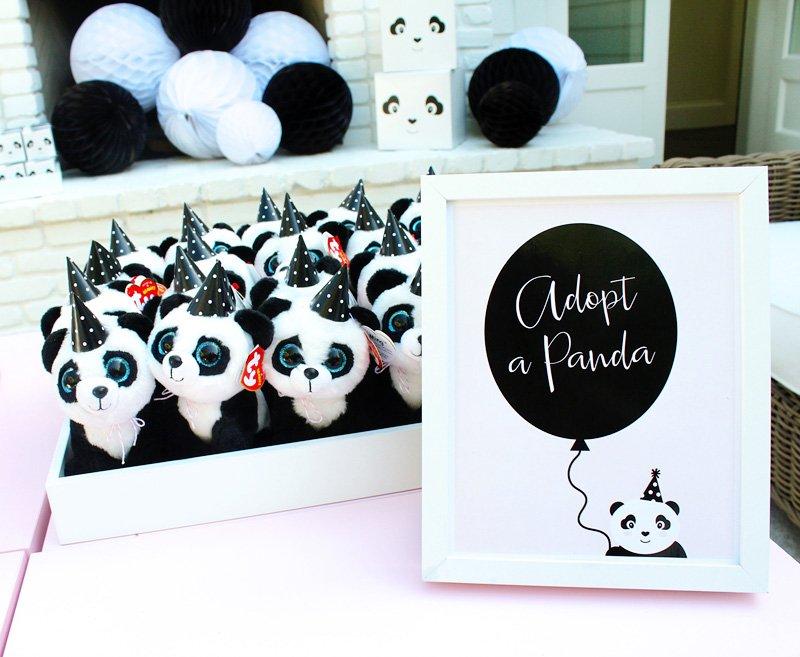 panda party favors - plush pandas