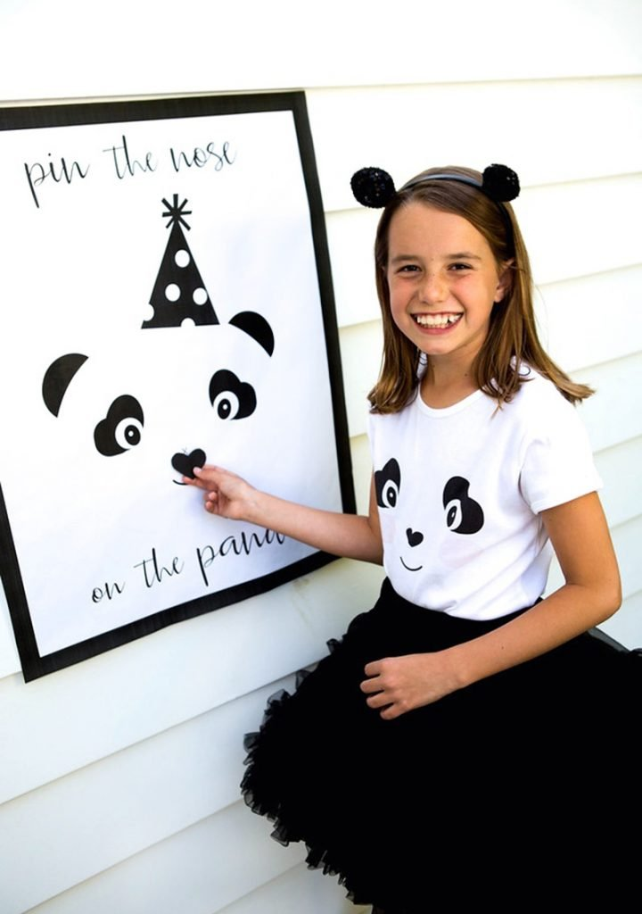 pin the nose on the panda party game