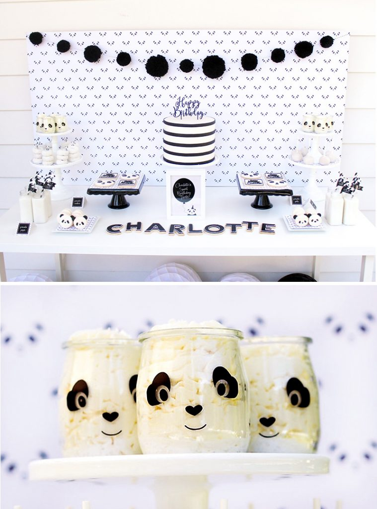 panda party dessert table