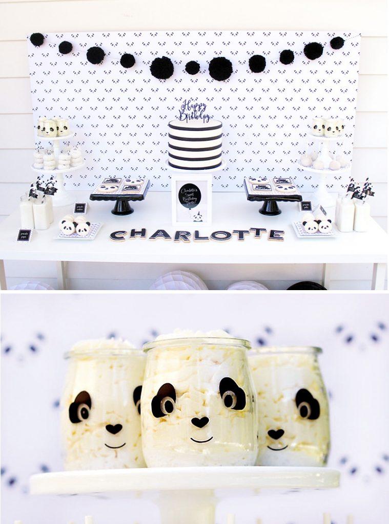 panda party dessert table