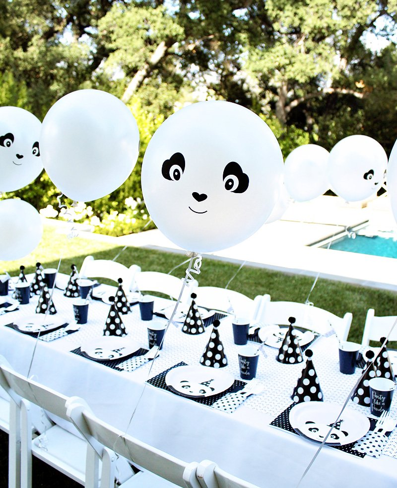 panda party balloons