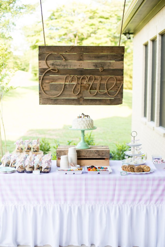 Shabby Chic Pony Party Dessert Table