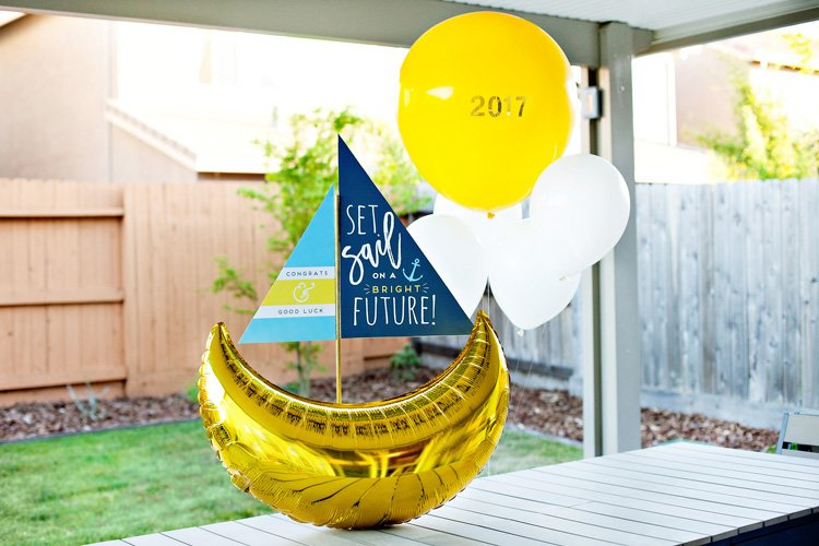 sailboat themed graduation party