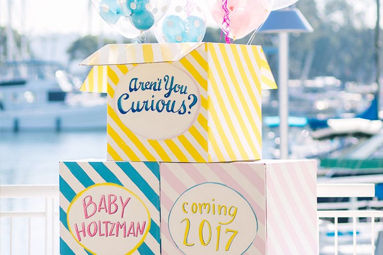 A Bright & Modern Baby Gender Reveal Party