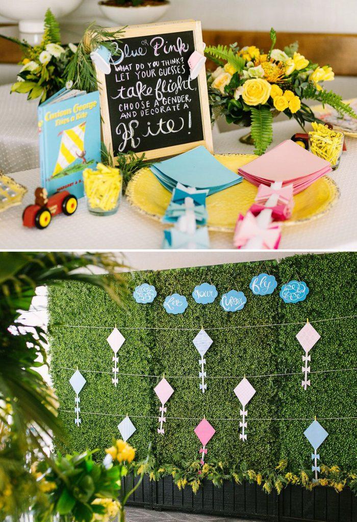 Baby Shower Activity Idea - DIY Kite Wall