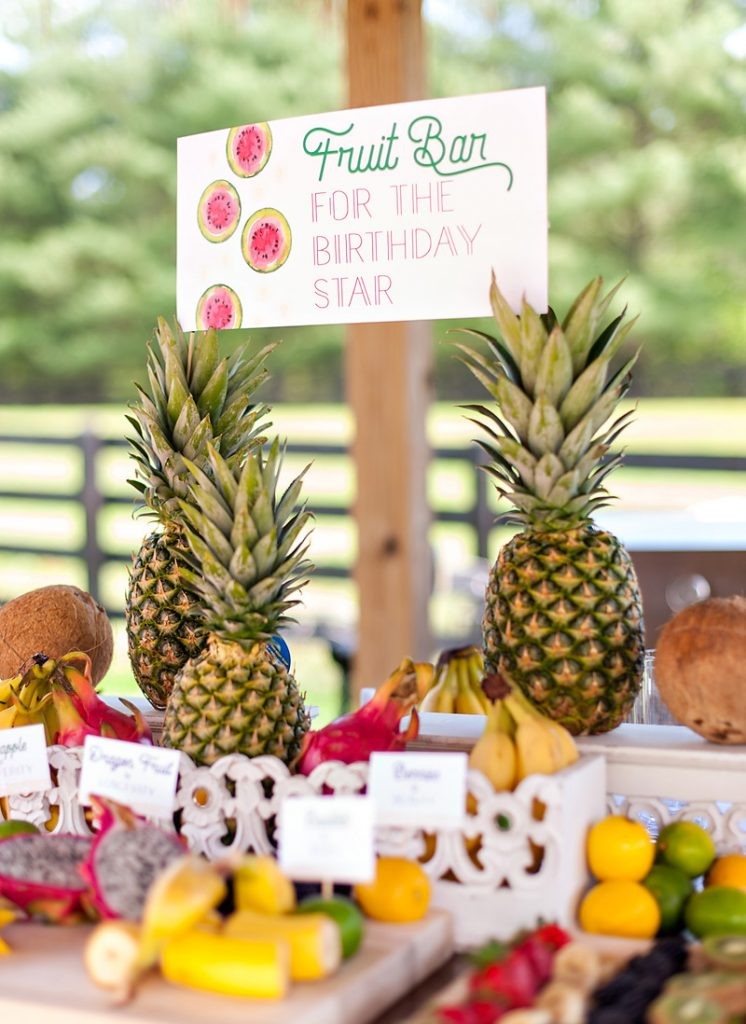 Summer Party Fruit Bar Station