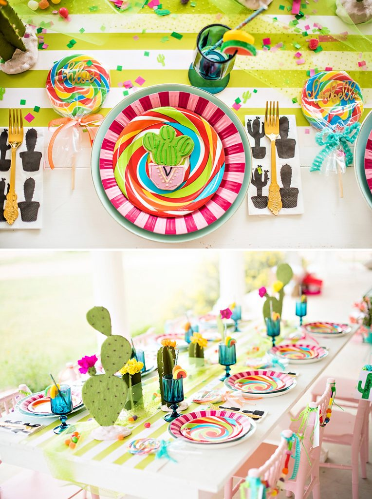 Cactus Party Kids Table
