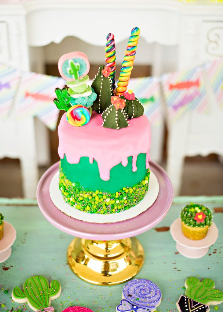 Cactus Party Cake