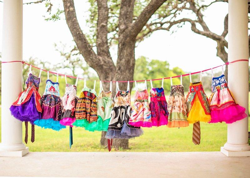 Handmade Vintage Scarf Kids Dresses