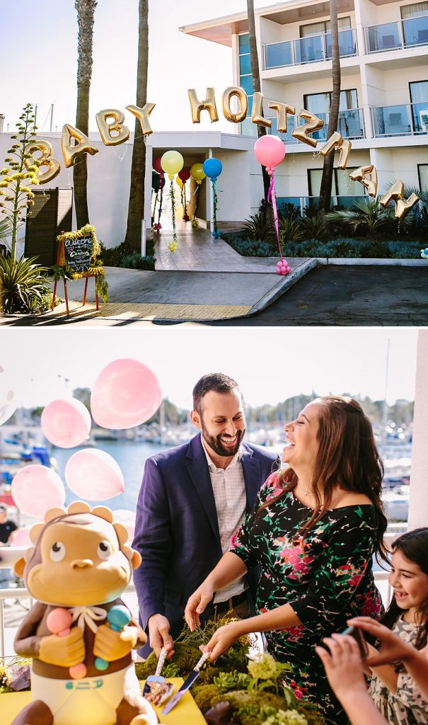 Baby Gender Reveal Party - Curious George