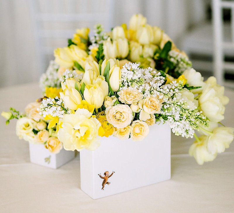 Curious George floral centerpieces