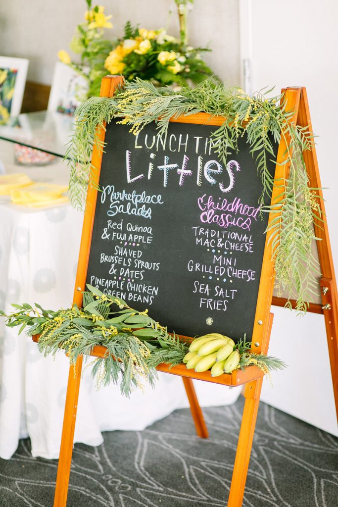chalkboard party signage
