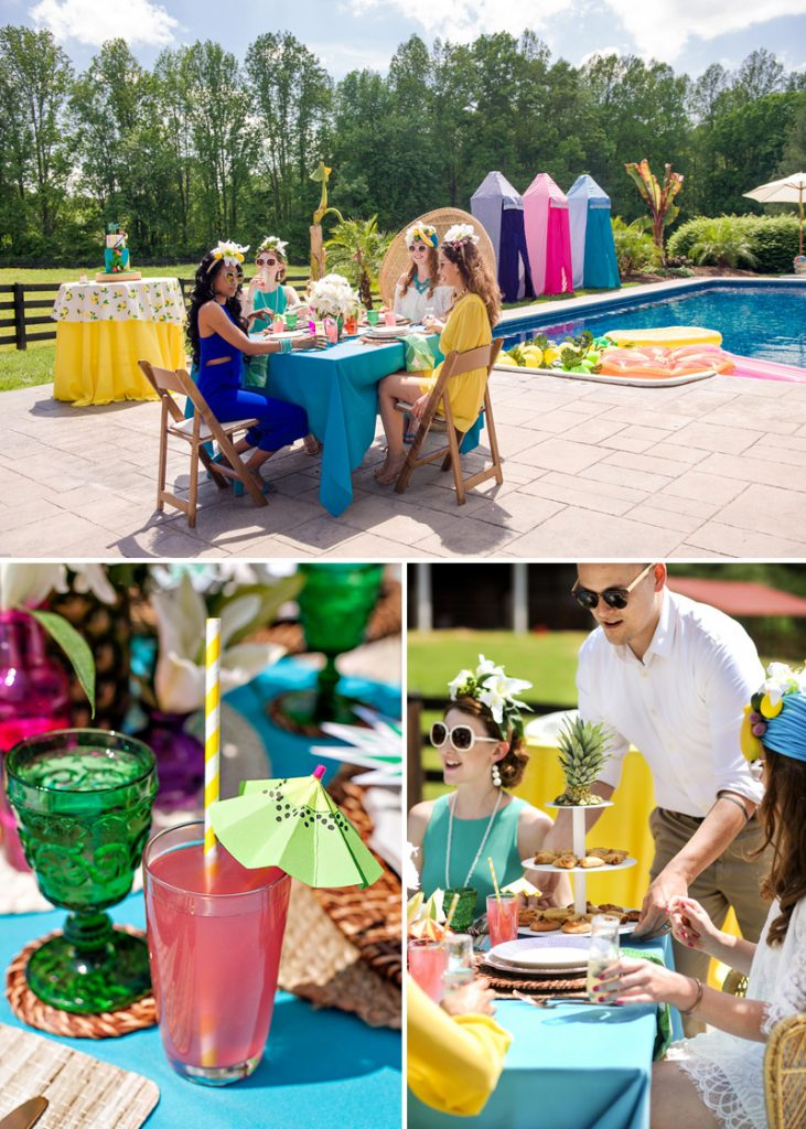 vintage cabana party theme