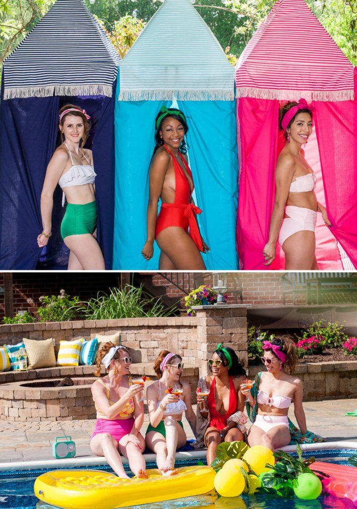 retro modern bathing suits